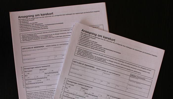 ansøgning om kørekort